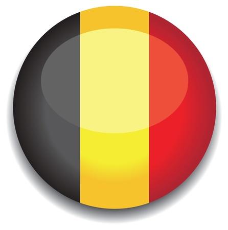 belgium flag: belgium flag in a button Illustration