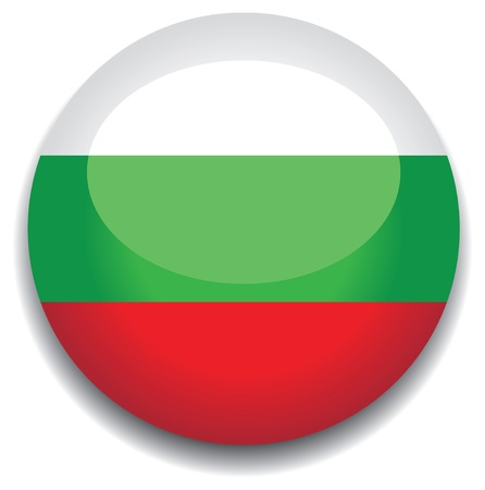 bulgaria flag in a button Stock Vector - 10230214
