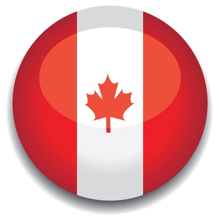 canada flag in a button Vector