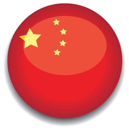 china flag in a button Vector
