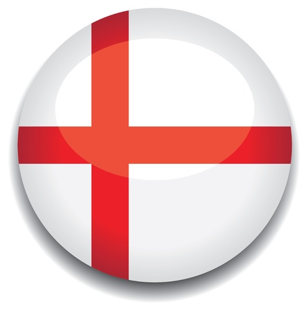 england flag in a button Vector