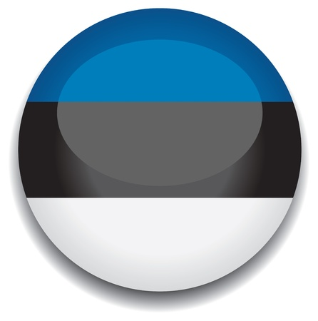 estonia: estonia flag in a button