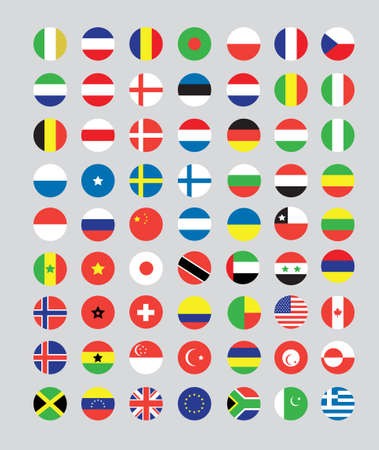 a set of flag buttons Stock Photo - 10230208