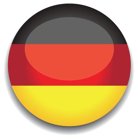 bandera alemania: Bandera de Alemania en un bot�n