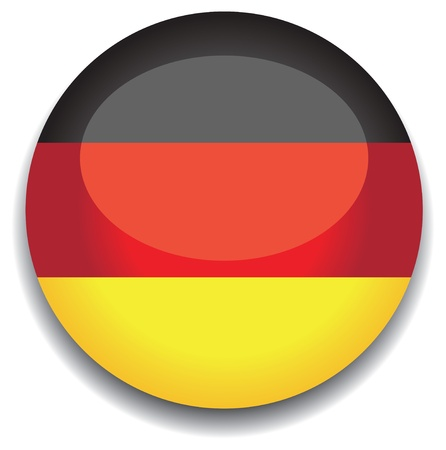 frankfurt: germany flag in a button