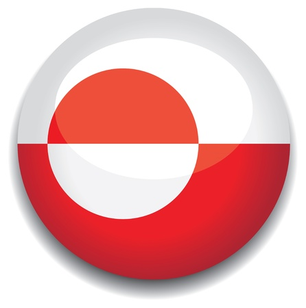 greenland flag in a button