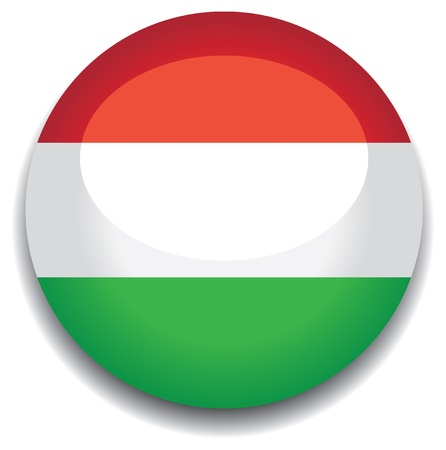 hungary flag in a button Vector