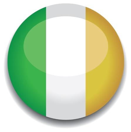 ireland flag in a button Stock Vector - 10230185
