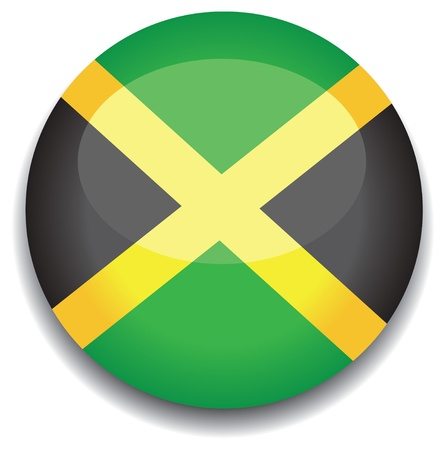 flag button: jamaica flag in a button