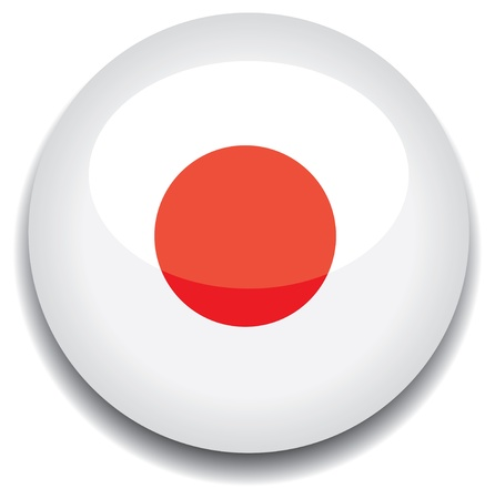 japan flag in a button Stock Vector - 10230192