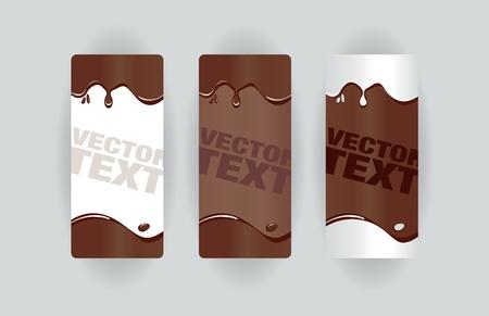 chocolate melt: banner splodge al cioccolato