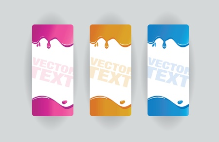colorful splodge banners Vector
