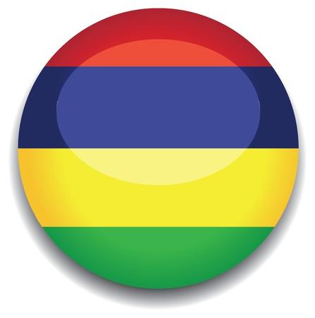 mauritius: mauritius flag in a button