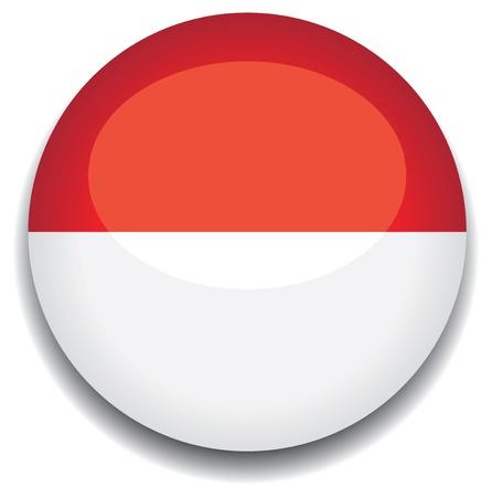 monaco flag in a button Vector
