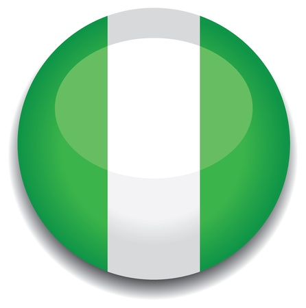 nigeria flag in a button Vector