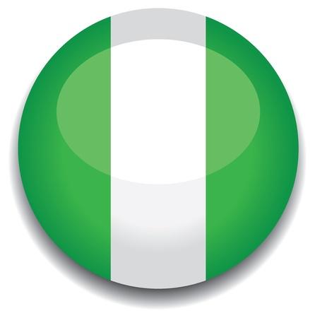 nigeria flag in a button