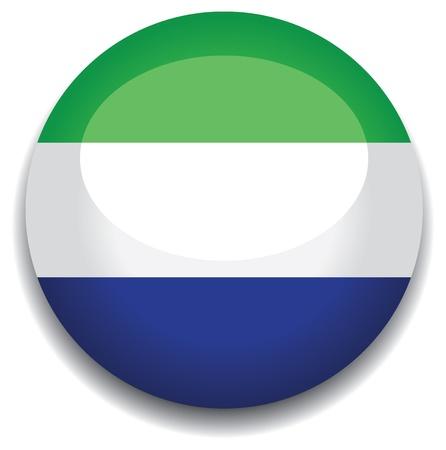 sierra leone flag in a button Stock Vector - 10335829