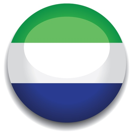 sierra: sierra leone flag in a button