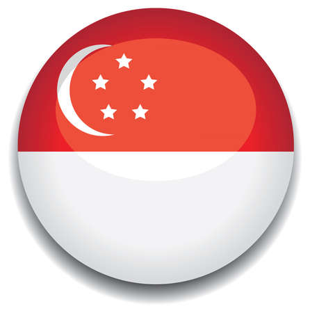 singapore: singapore flag in a button