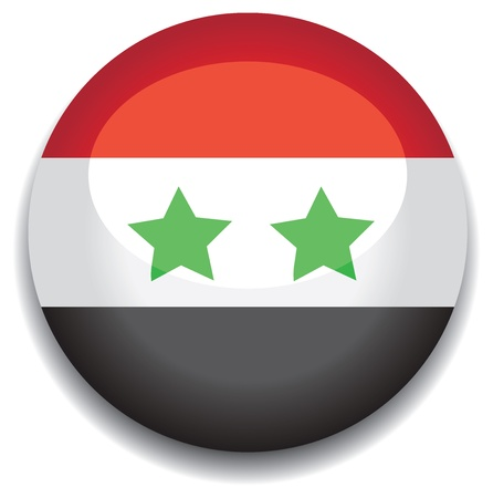 syria flag in a button Vector