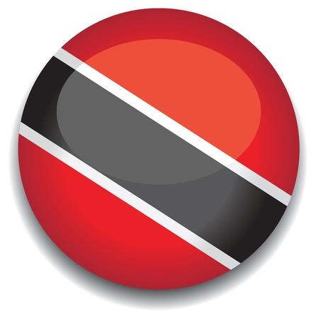 trinidad and tobago: trinidad and tobago flag in a button Illustration