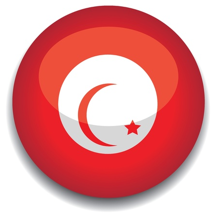tunisia: tunisia flag in a button