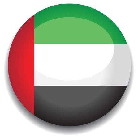 the emirates: Emiratos �rabes Unidos bandera en un bot�n Vectores