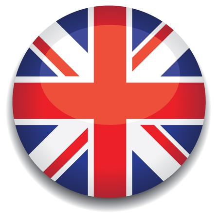 uk flag in a button Vector