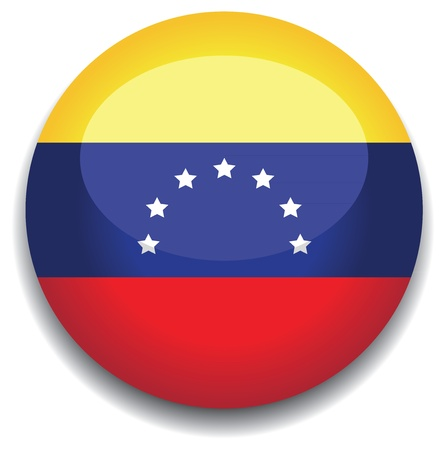 mapa de venezuela: Bandera de Venezuela en un bot�n Vectores