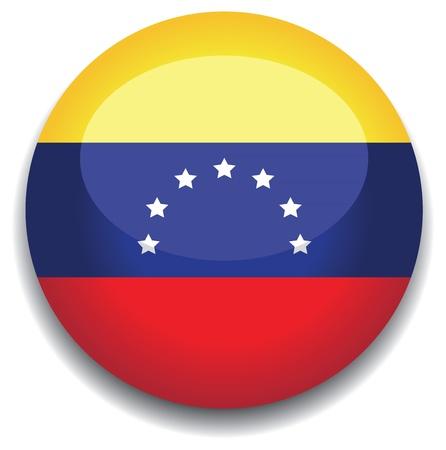 venezuela: venezuela flag in a button Illustration