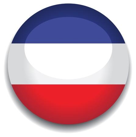 yugoslavia: yugoslavia flag in a button