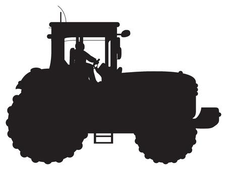 traktor: Schleppersilhouette