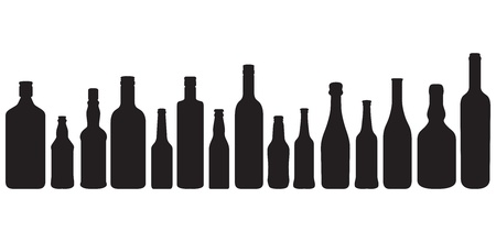 bottle silhouettes Vector