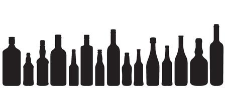 Flasche Silhouetten