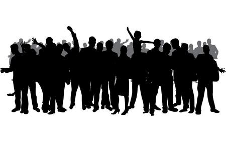 personas celebrando: multitud Vectores