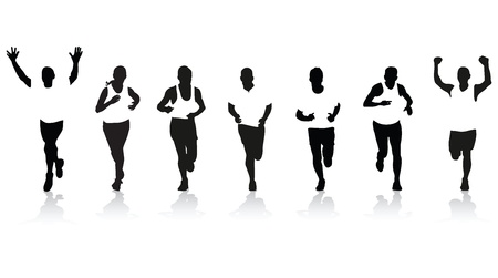 biegaczy Ilustracje wektorowe
