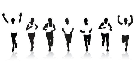 los corredores Ilustración de vector