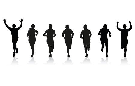 sprint: runners Illustration