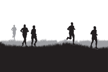 running race: runners Illustration