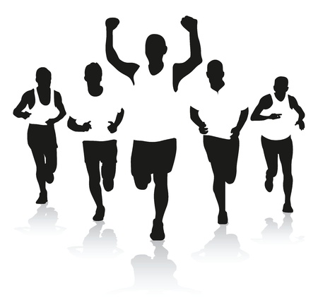 a group of runners Stock Vector - 10850290
