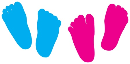 little girl feet: child feet his and hers