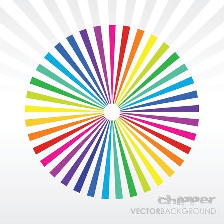 colour wheel: rainbow background Illustration