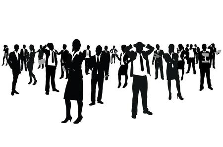 mucha gente: hombres de negocios del grupo