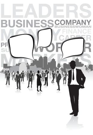 black lady talking: gente de negocios bocadillos Vectores