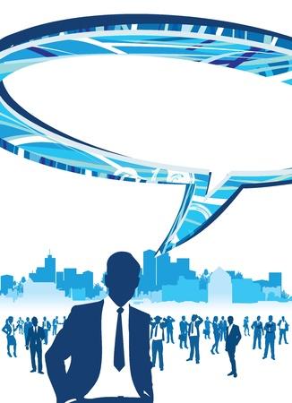 business people speech bubbles Stock Vector - 11121089