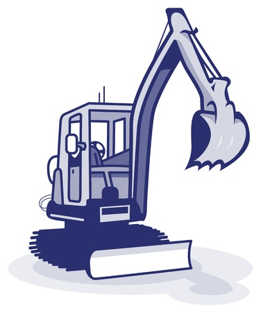 wheel loader: plant machinery Illustration
