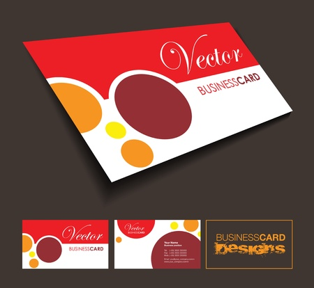corporate gift: business card background Illustration