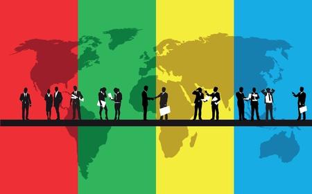 black business men: business people background Illustration