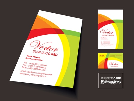 business card background Illustration