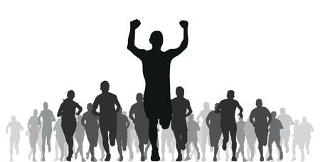 atleta corriendo: grupo de corredores
